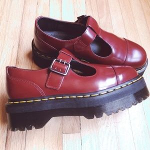 Platform Dr. Martens Bethan Mary Jane T Bar Shoes